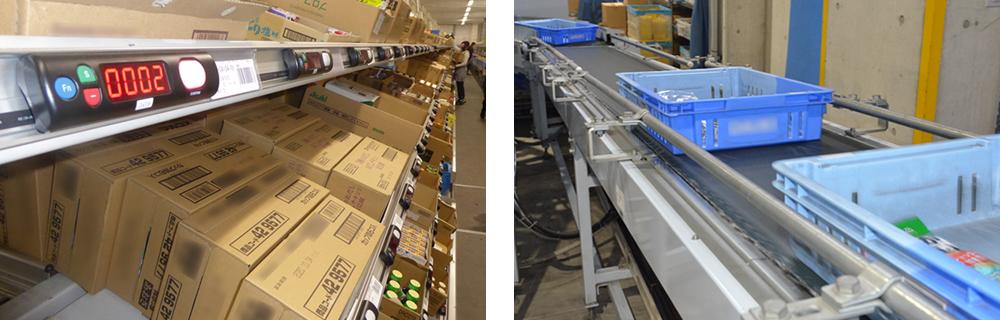 売れ筋品・海外買付け品を中心に在庫とし出荷